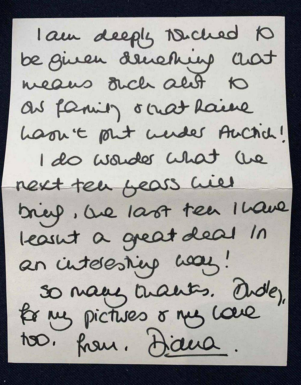Письмо Дианы (1991 год)