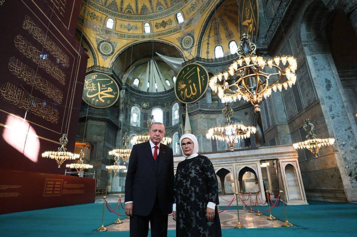 В молитве принял участие президент Турции