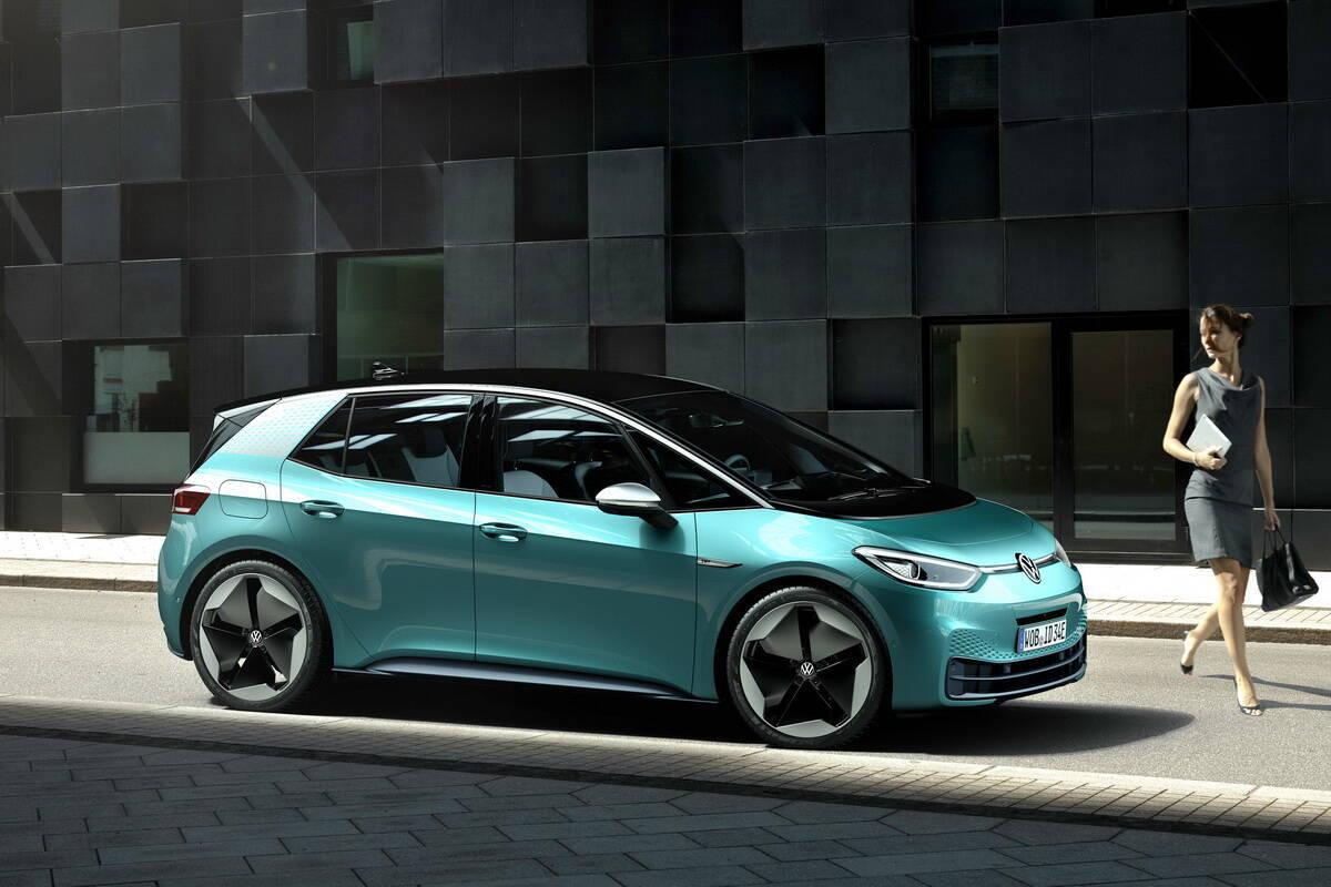 Электрический Volkswagen ID.3 Фото:
