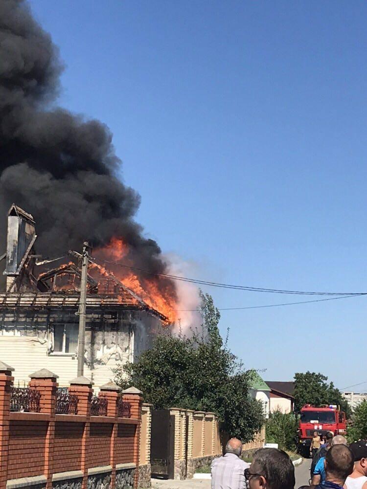Пожежа в Бердянську.