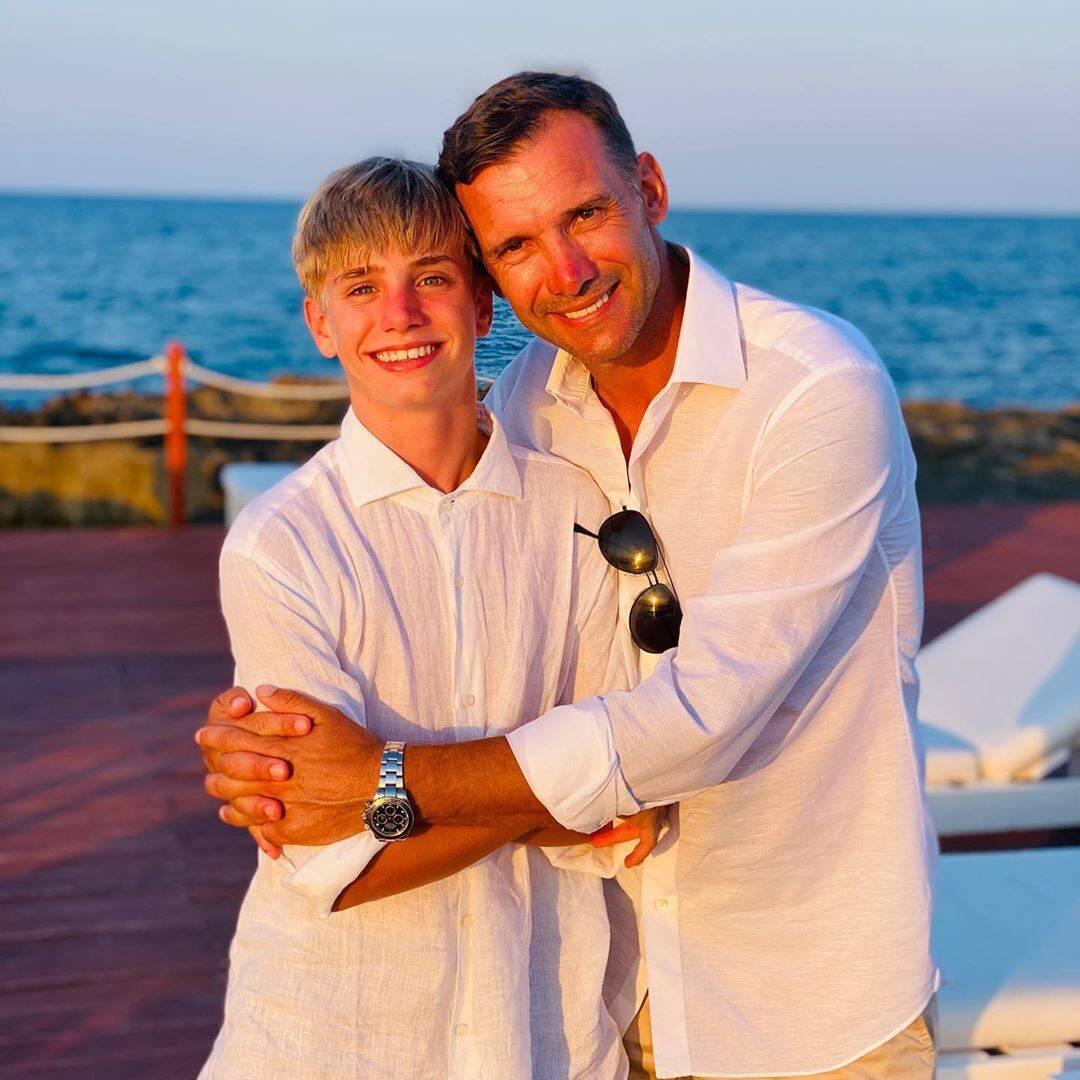 Андрей Шевченко с сыном