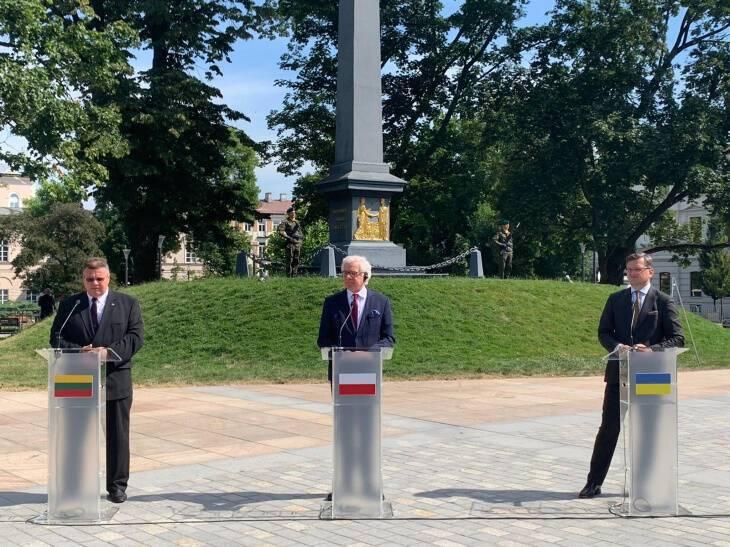 Министры иностранных дел Литвы, Польши и Украины