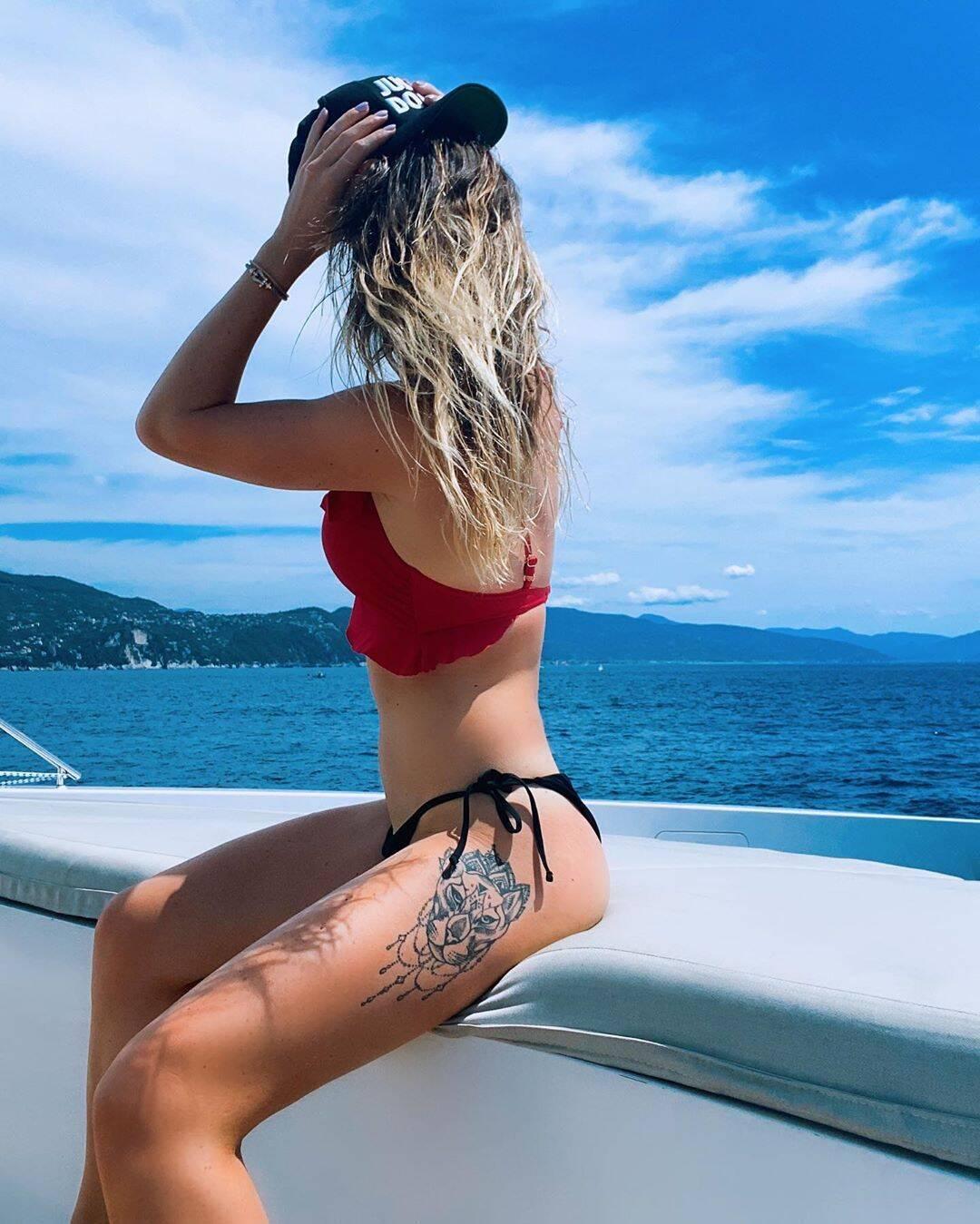 Элина Свитолина на яхте