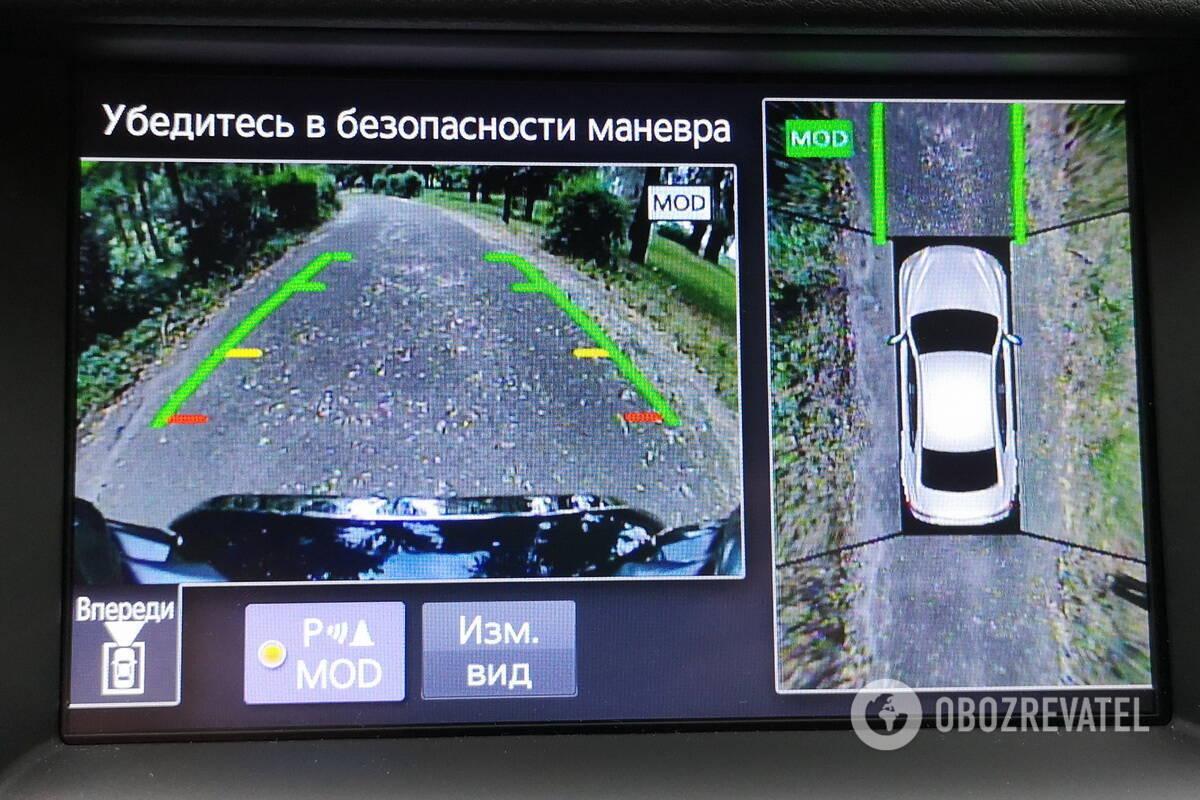 Система кругового обзора Around View Monitor позволяет оценить пространство вокруг авто с разных ракурсов. Фото: