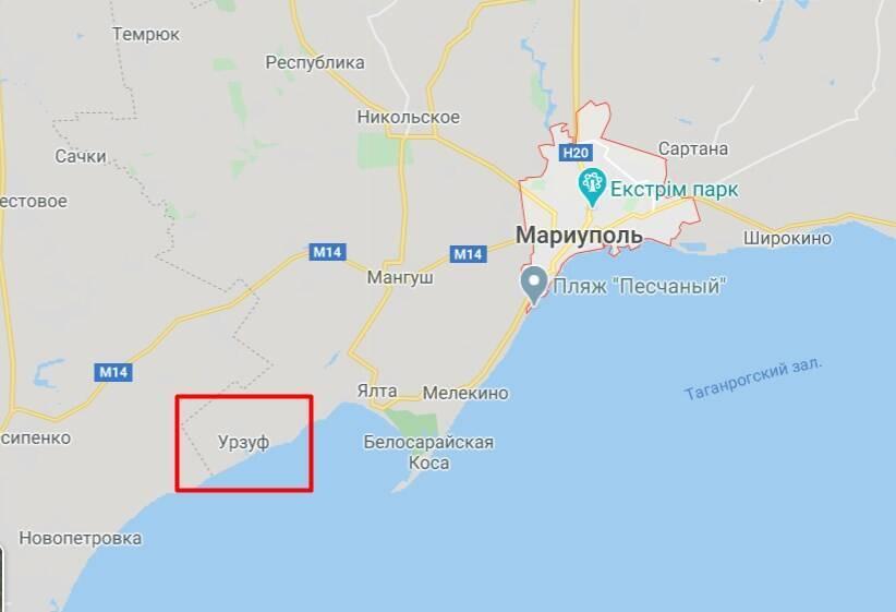 Поселок Урзуф расположен на берегу Азовского моря в 40 км от г. Мариуполь.
