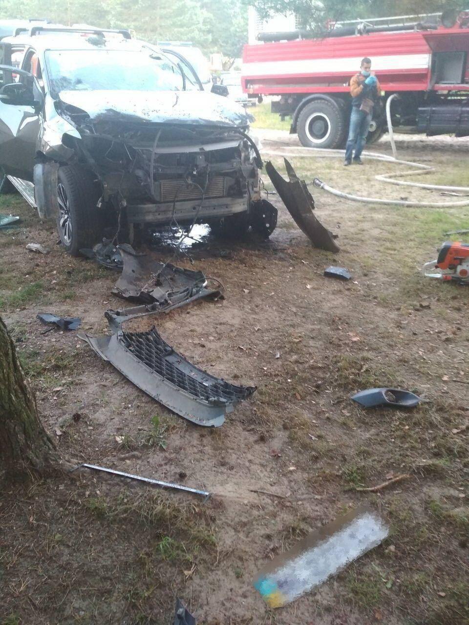 На Львівщині вибухнув автомобіль із бізнесменом