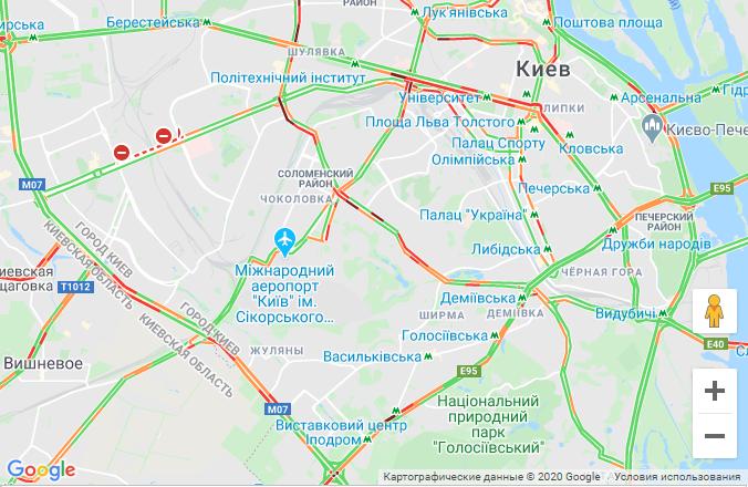 Пробки в Киеве 29 июля