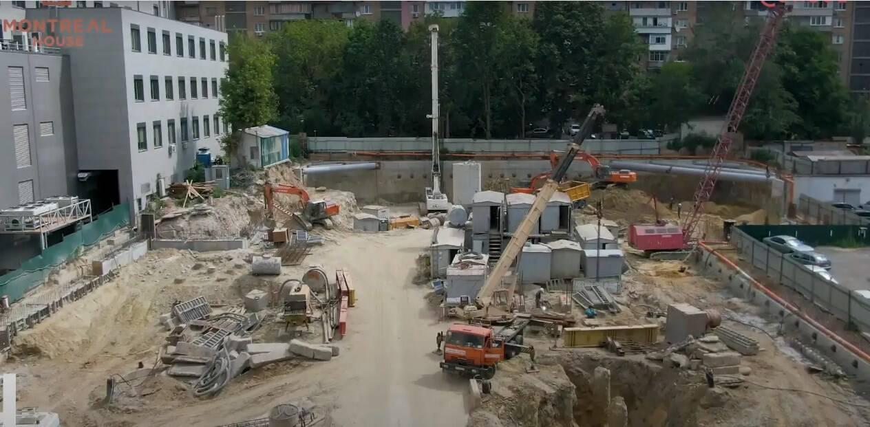 Скріншот відеозвіту з ходом будівництва ЖК MONTREAL HOUSE за липень 2020 р.