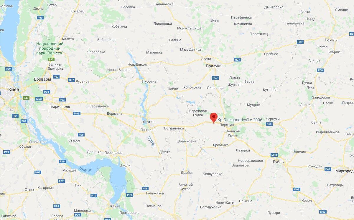 ДТП произошло в районе села Александровка Полтавской области
