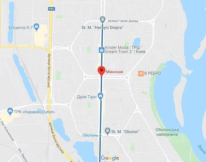 """Водитель избил пешехода возле станции метро """"Минская""""."""