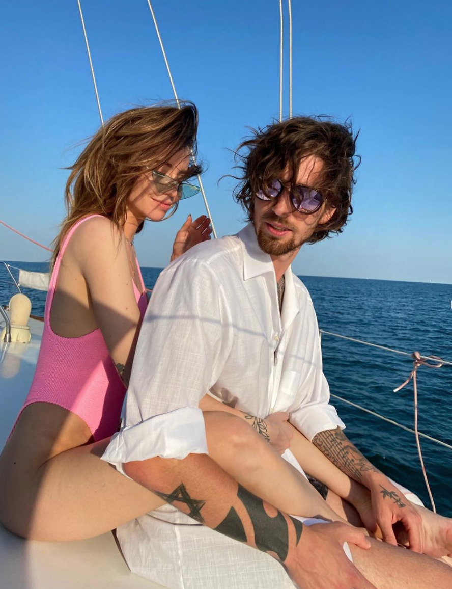 Надя Дорофеева и Владимир Дантес на Черном море