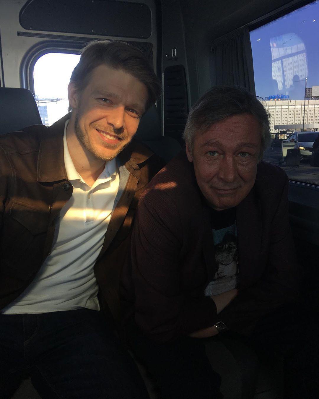 Михаил Ефремов и старший сын Никита