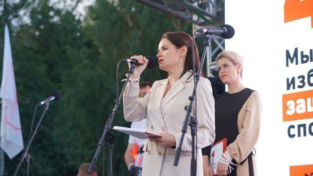 Светлана Тихановская обратилась к участникам митинга