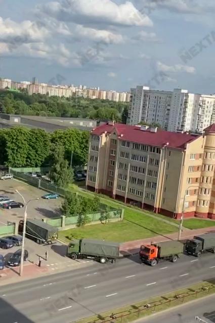 Военная техника в Минске.