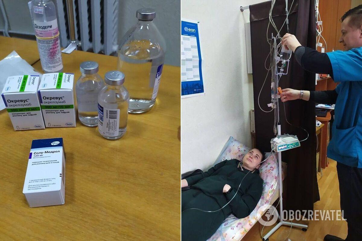 Катя во время курса лечения жизненно необходимым препаратом.