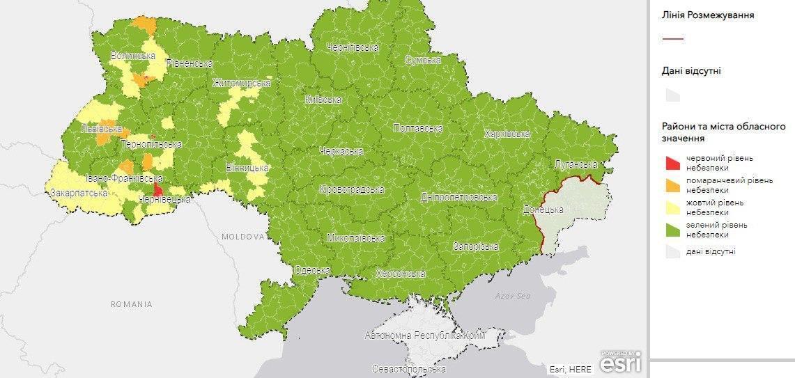 Карта регіонів за зонами.