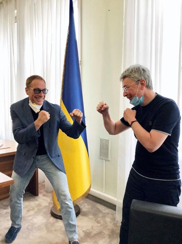 Ткаченко и Ван Дамм в Киеве