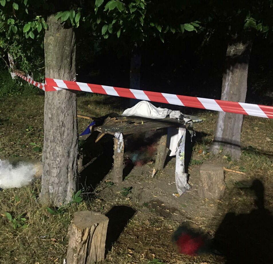 Місце вибуху гранати під Черніговом
