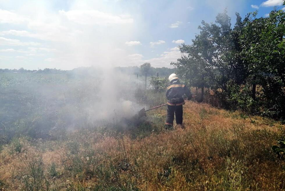 За останню добу в Дніпрі і області сталося 20 пожеж