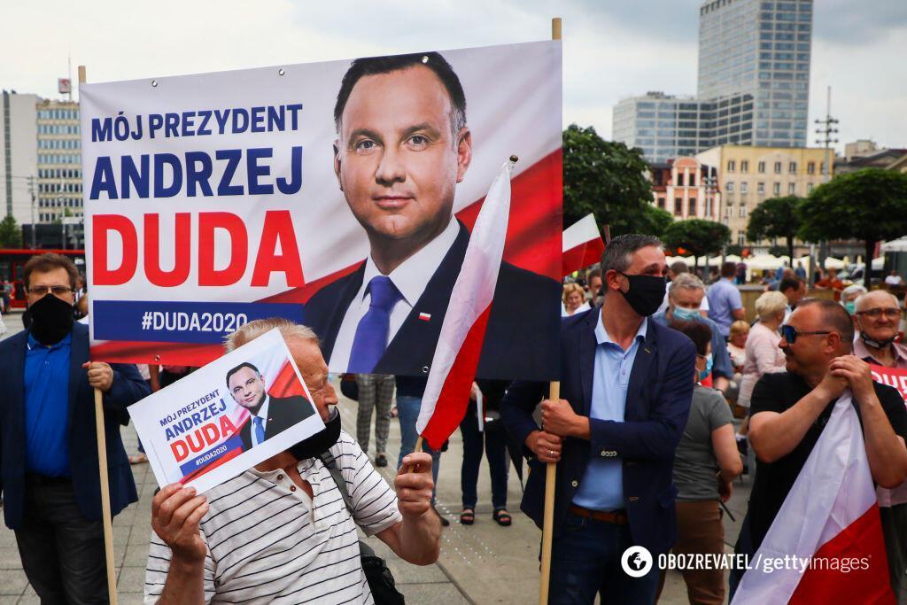 Дуда может проиграть на президентских выборах в Польше. Getty Images