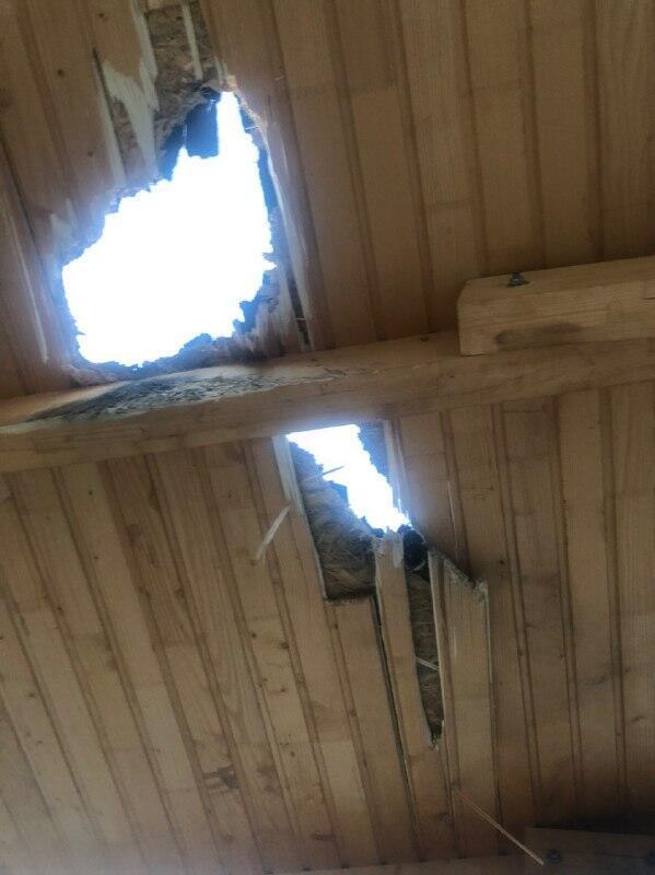 Пошкоджена будівля