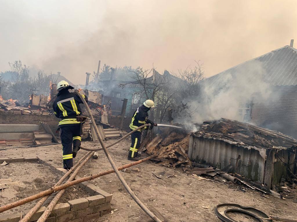 Ліквідація пожежі на Луганщині, 8 липня