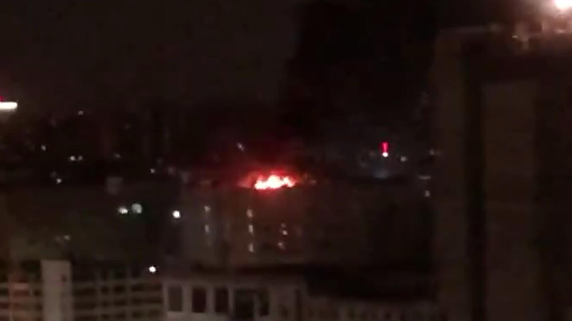 Пожар в московском НИИ.