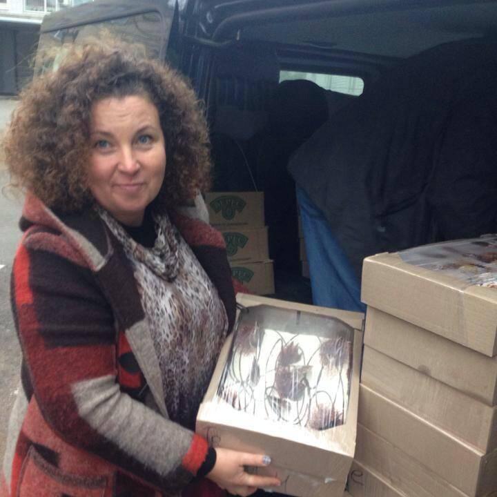 Лариса Семиз - волонтер, помогала бойцам АТО.