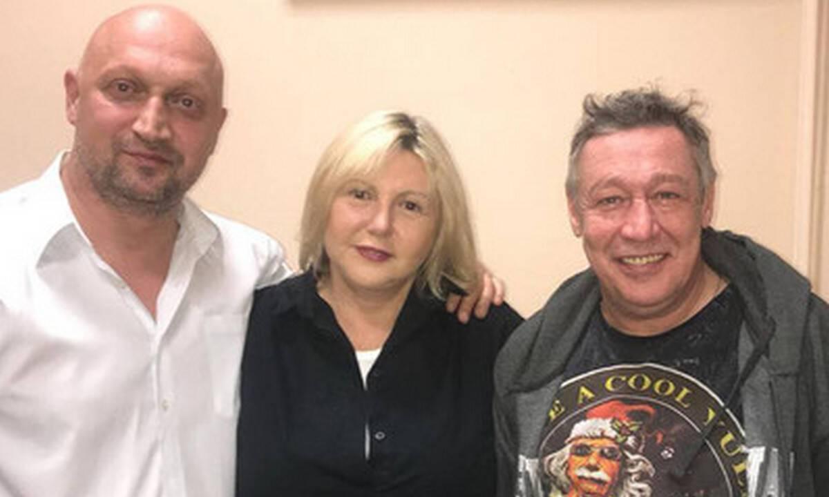 Михаил Ефремов с Татьяной Беркович и Гошей Куценко