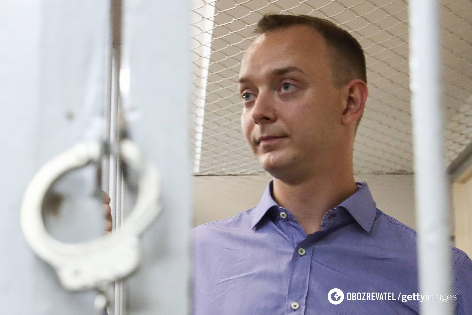 Иван Сафронов на суде по избранию меры пресечения в Москве