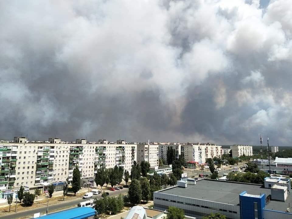 Пожежа на Луганщині, 7 липня