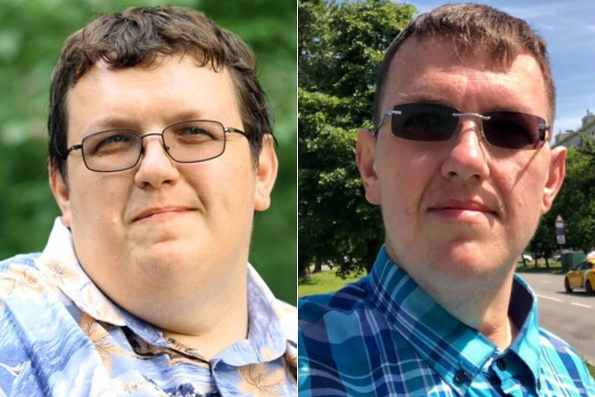 Алексей Екс до и после похудени коллаж
