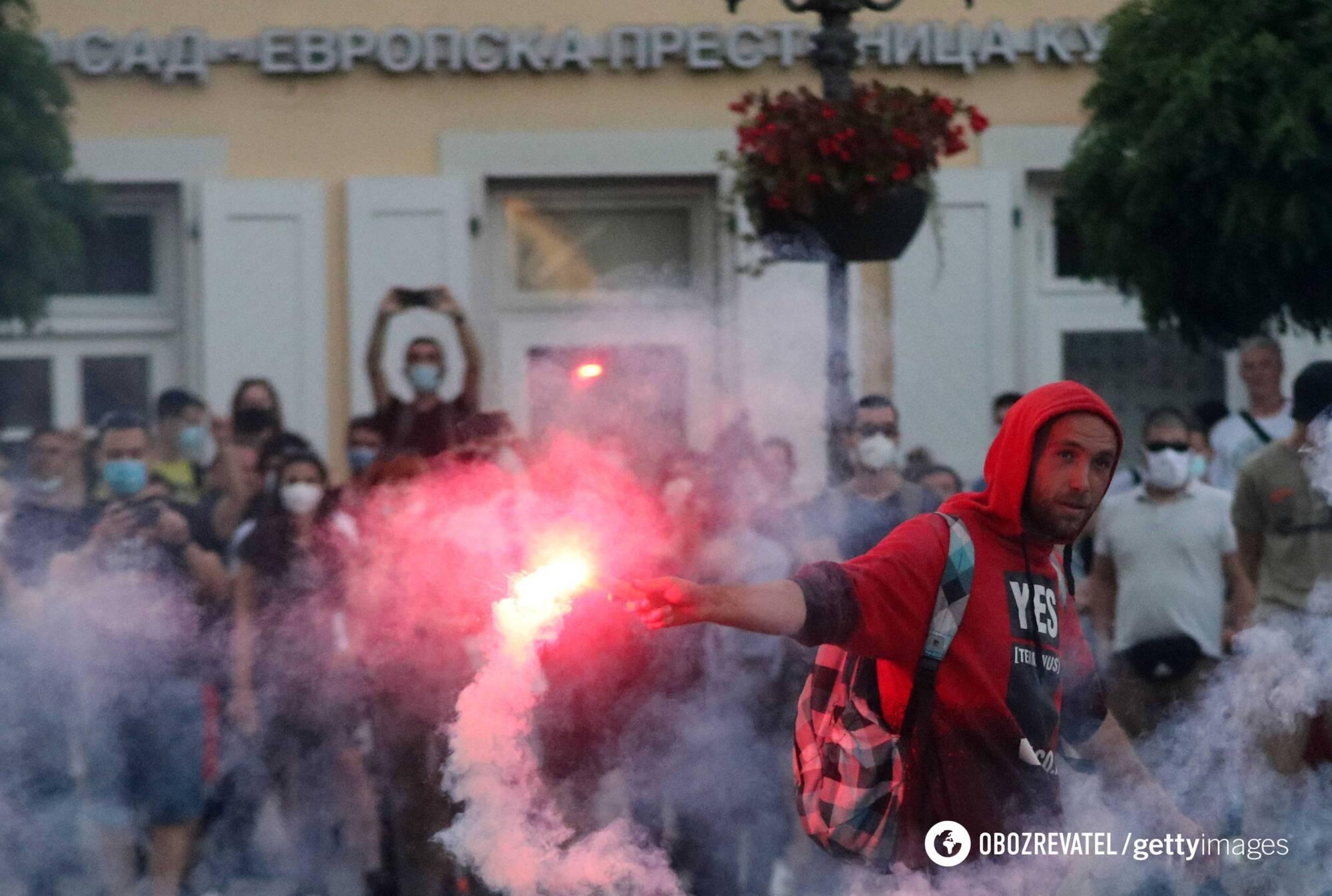 Протесты в Сербии