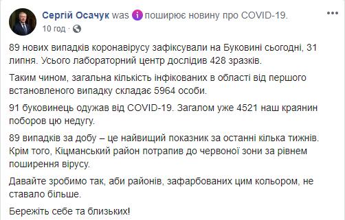На Буковині серйозний спалах COVID-19: встановлено антирекорд