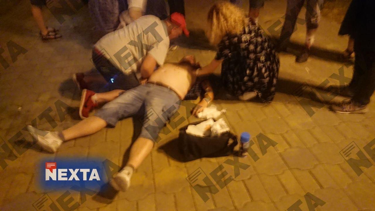 Белорус Евгений Заичкин, жестоко избитый на митинге