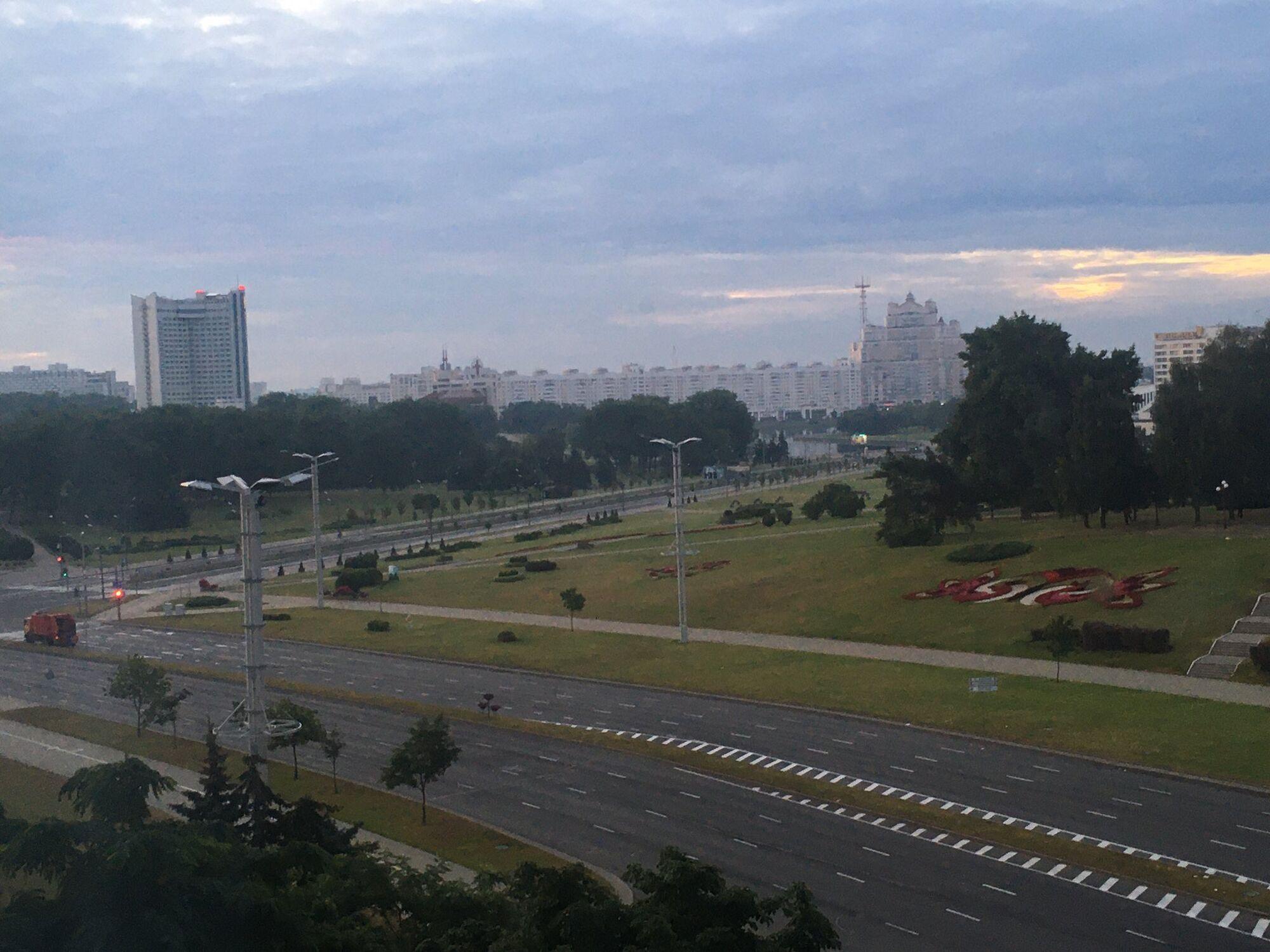 Утро в Минске после ночных протестов