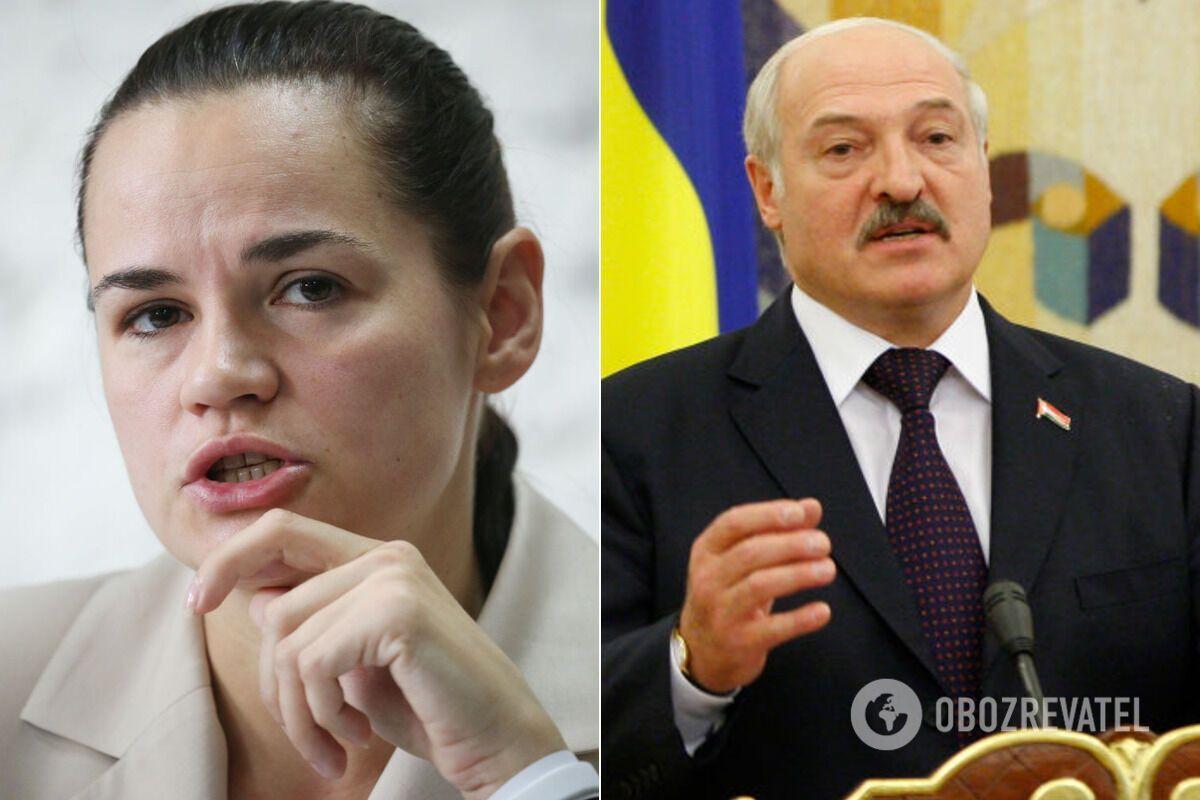 Світлана Тихановська і Олександр Лукашенко
