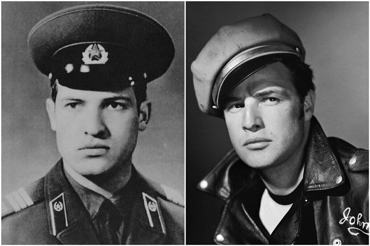 Александр Лукашенко (слева) и Марлон Брандо (справа)