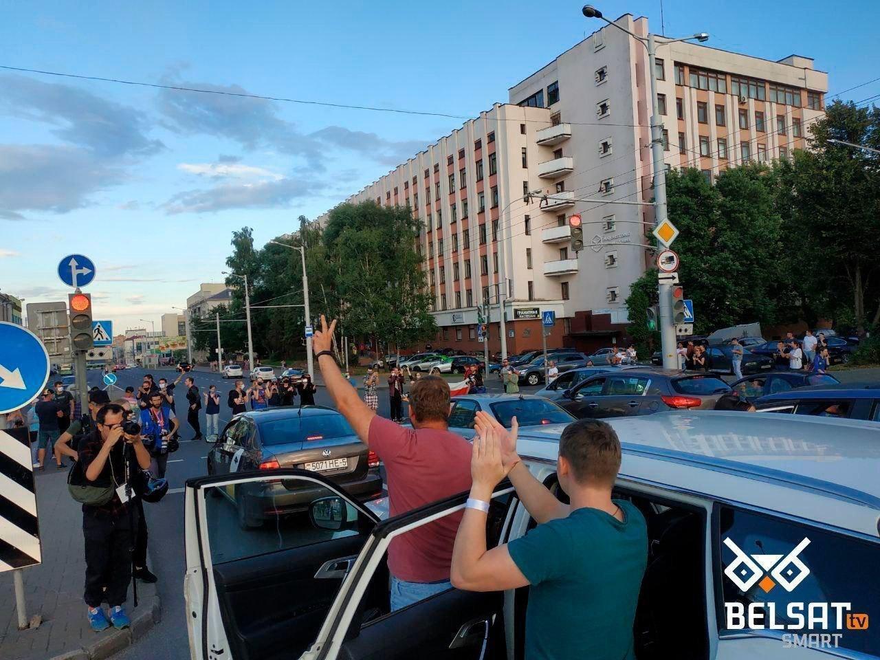 Активисты в Минске заблокировали движение.