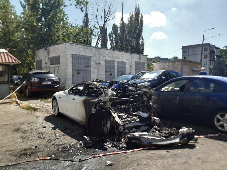 Спалена Tesla Андрія Богдана