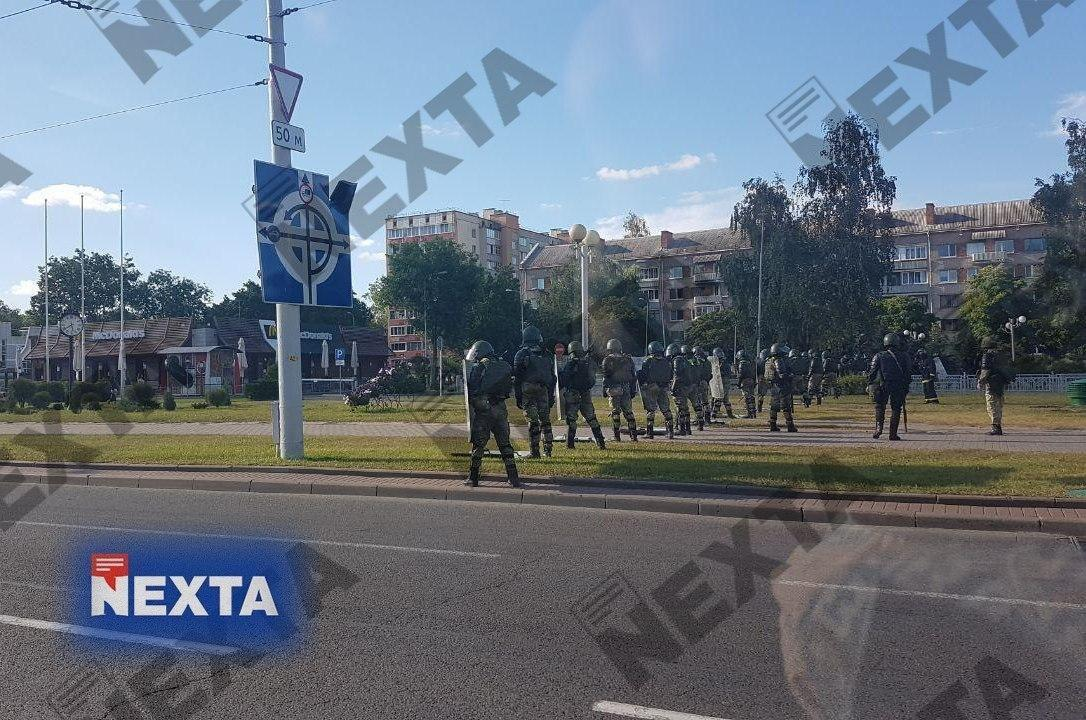 Внутренние войска в центре Минска
