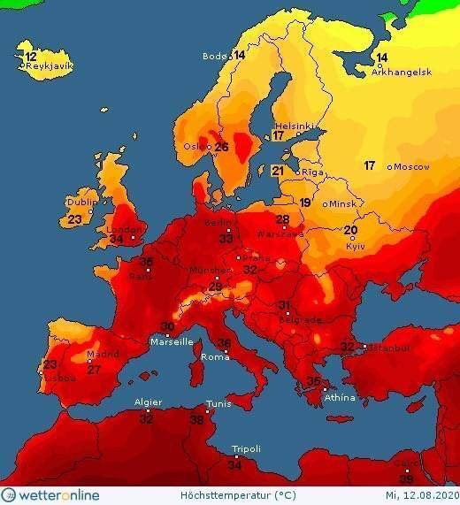 Погода в Украине на среду