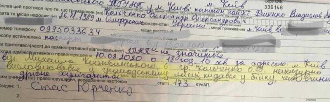 Кольченко присудили 40 часов исправительных работ