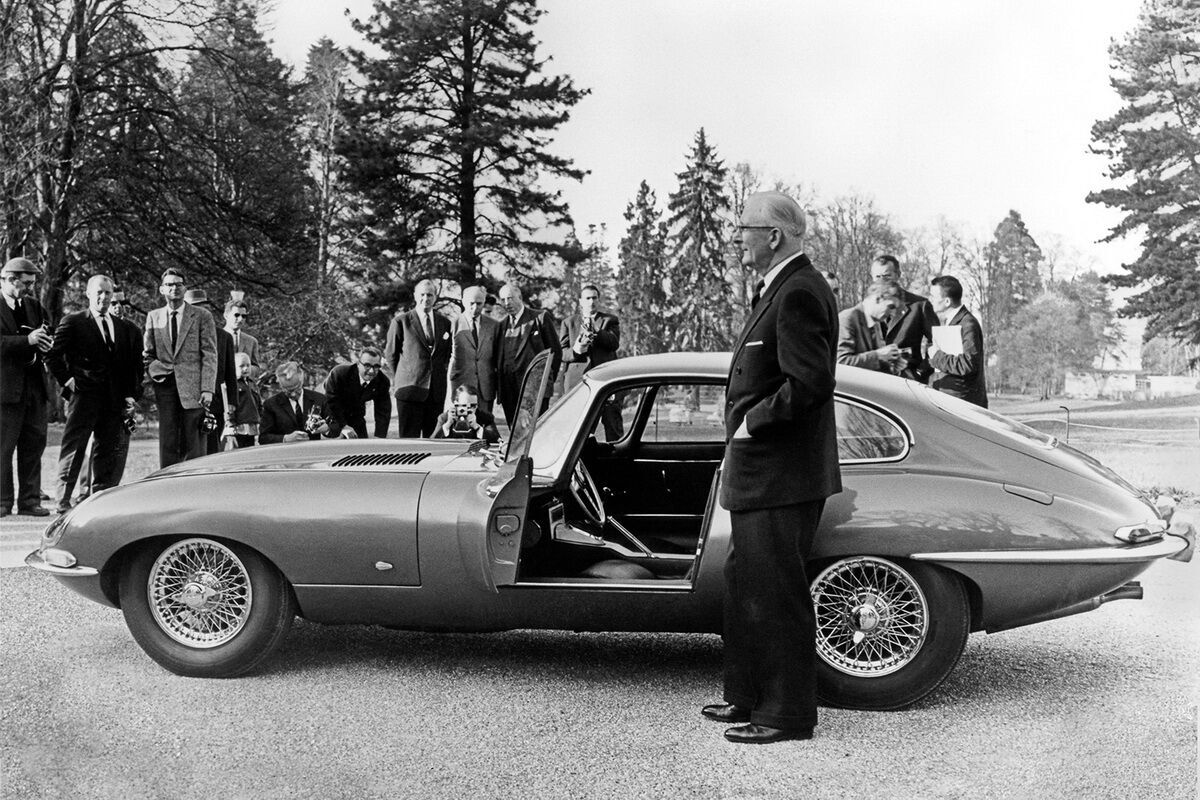 Jaguar E-type в Женеві в 1961 році. фото: