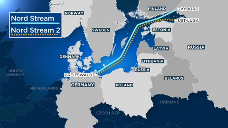 "Карта маршрута ""Северного потока-2"""