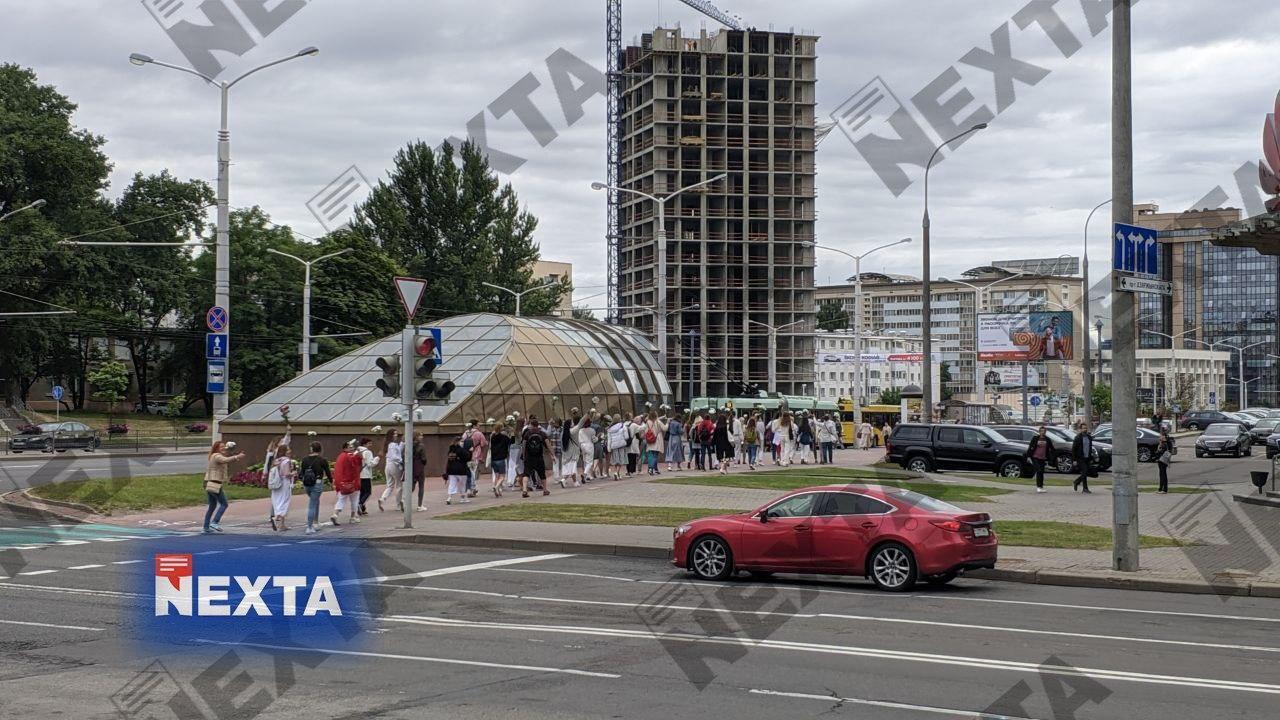 Акции протеста в столице Беларуси продолжаются