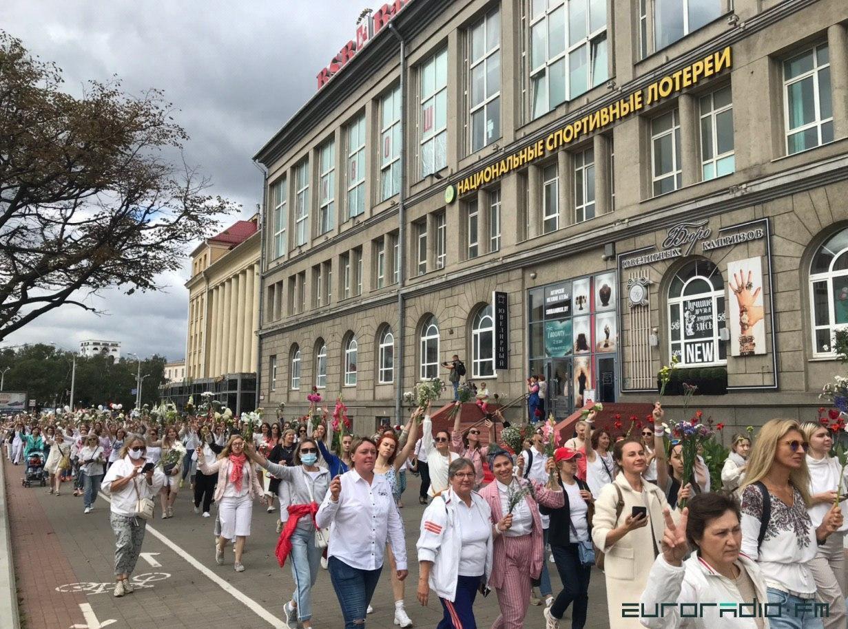 Мирный протест в Минске