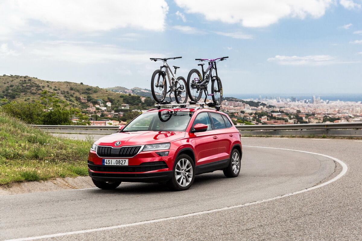 Skoda предлагает большой ассортимент аксессуаров для велосипедистов. Фото: