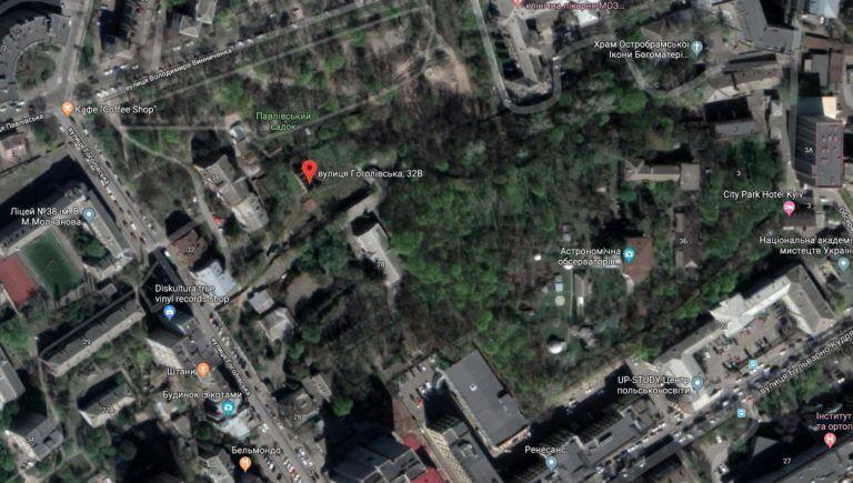 Карта вулиці Гоголівської