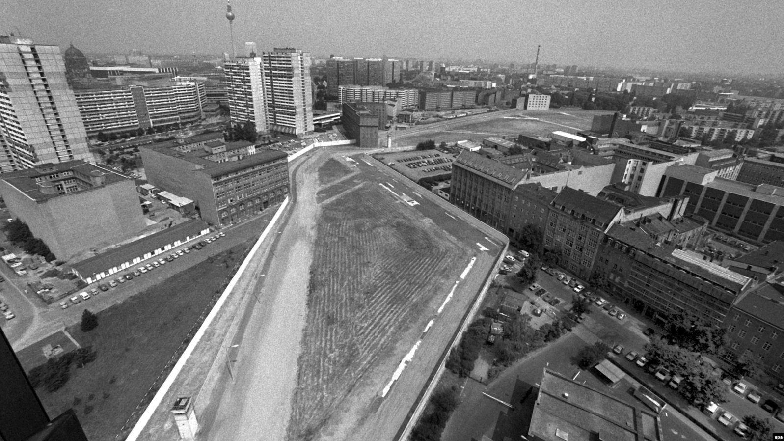 Разделенный Берлин за несколько лет до воссоединения